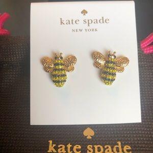 Kate Spade NWT Bee Picnic Perfect Stud Earrings